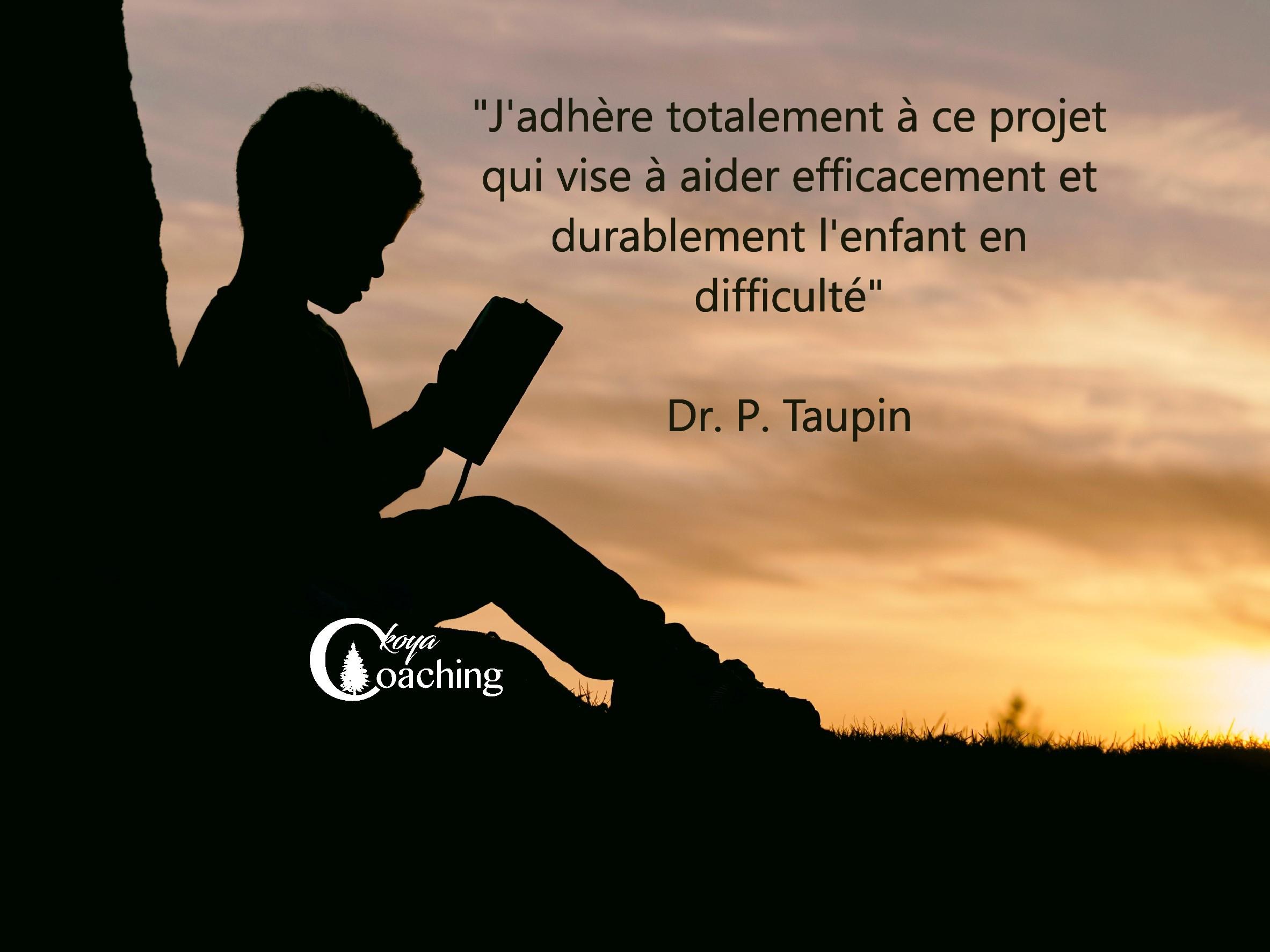 Témoignage  Philippe Taupin, coaching enfants